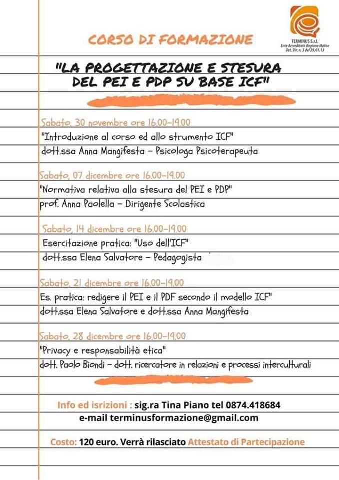 """Psicologia & Scuola: """"Progettazione e stesura del PEI e PDF su base ICF"""""""